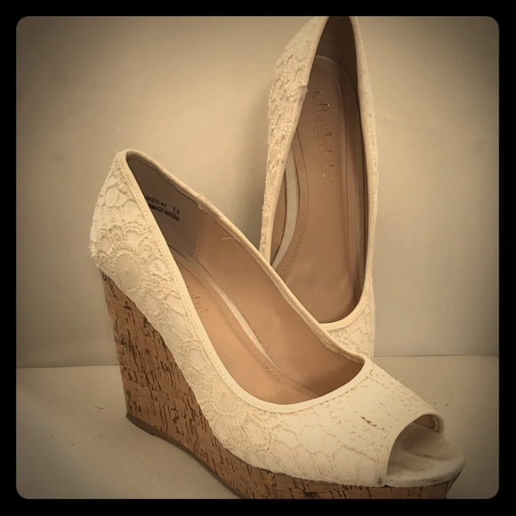 Altard State Ivory Lace Wedges